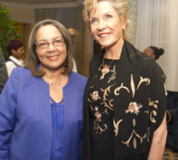 """CAPE TOWN, SOUTH AFRICA - OCTOBER 04: Patricia de Lille Executive Mayor of Cape Town and Sally Little during the Launch of """"Capturing the Fire"""" - The Sally Little Story at The Table Bay Hotel on October 04, 2016 in Cape Town, South Africa. (Photo by Peter Heeger/Gallo Images)"""